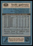 1981 Topps #13  Bob Gainey  Back Thumbnail