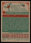 1973 Topps #164  Kennedy McIntosh  Back Thumbnail