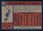 1974 Topps #204  Joe Caldwell  Back Thumbnail