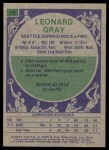 1975 Topps #78  Leonard Gray  Back Thumbnail