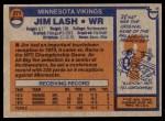 1976 Topps #271  Jim Lash   Back Thumbnail