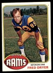 1976 Topps #252  Fred Dryer  Front Thumbnail