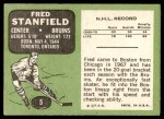 1970 Topps #5  Fred Stanfield  Back Thumbnail
