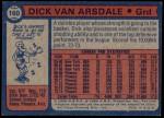 1974 Topps #160  Dick Van Arsdale  Back Thumbnail