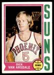 1974 Topps #160  Dick Van Arsdale  Front Thumbnail