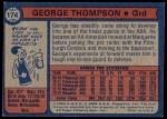 1974 Topps #174  George Thompson  Back Thumbnail