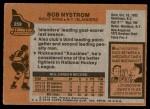 1975 Topps #259  Bob Nystrom  Back Thumbnail