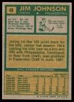 1971 Topps #48  Jim Johnson  Back Thumbnail