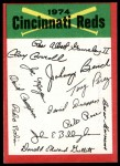 1974 Topps Red Team Checklist   Reds Team Checklist Front Thumbnail
