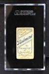 1909 T206 CHI Carl Lundgren  Back Thumbnail