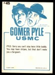 1965 Fleer Gomer Pyle #45   I Don't Make the Rules Back Thumbnail
