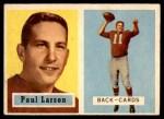 1957 Topps #146  Paul Larson  Front Thumbnail