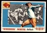 1955 Topps #21 COR Whizzer White   Front Thumbnail