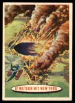 1957 Topps Space Cards #24   If Meteor Hit New York Front Thumbnail