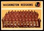1960 Topps #132   Redskins Team Checklist Front Thumbnail