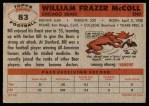 1956 Topps #83  Bill McColl  Back Thumbnail