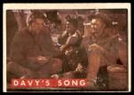 1956 Topps Davy Crockett Green Back #63   Davy's Song  Front Thumbnail