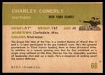 1961 Fleer #68  Charley Conerly  Back Thumbnail