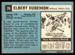 1964 Topps #26  Elbert Dubenion  Back Thumbnail