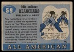 1955 Topps #59  Doc Blanchard  Back Thumbnail