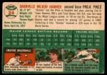 1954 Topps #24 WHT Granny Hamner  Back Thumbnail