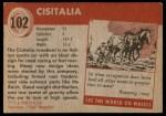 1954 Topps World on Wheels #102   Cisitalia Back Thumbnail