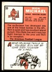 1966 Topps #59  Rich Michael  Back Thumbnail