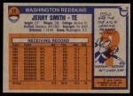 1976 Topps #12  Jerry Smith  Back Thumbnail