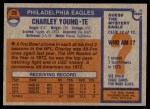 1976 Topps #20  Charley Young  Back Thumbnail