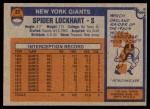 1976 Topps #27  Spider Lockhart  Back Thumbnail
