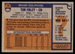 1976 Topps #72  Tim Foley  Back Thumbnail