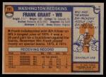 1976 Topps #151  Frank Grant   Back Thumbnail