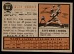 1962 Topps #585  Glen Hobbie  Back Thumbnail