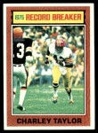1976 Topps #8   -  Charley Taylor  Record Breaker Front Thumbnail