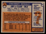 1976 Topps #52  Jim LeClair   Back Thumbnail