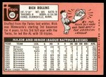 1969 Topps #451 WN Rich Rollins  Back Thumbnail