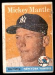 1958 Topps #150  Mickey Mantle  Front Thumbnail