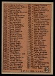 1972 Topps #604 R  Checklist 6 Back Thumbnail