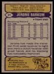 1979 Topps #21  Jerome Barkum  Back Thumbnail