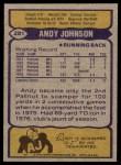 1979 Topps #281  Andy Johnson  Back Thumbnail