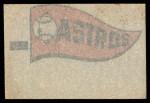 1966 Topps Rub Offs    Houston Astros Pennant Back Thumbnail