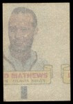 1966 Topps Rub Offs  Eddie Mathews  Back Thumbnail