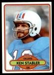 1980 Topps #65  Ken Stabler  Front Thumbnail