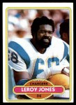 1980 Topps #128  Leroy Jones  Front Thumbnail