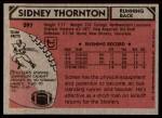 1980 Topps #297  Sidney Thornton  Back Thumbnail