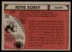 1980 Topps #462  Revie Sorey  Back Thumbnail