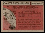 1980 Topps #99  Matt Cavanaugh  Back Thumbnail