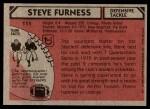 1980 Topps #111  Steve Furness  Back Thumbnail