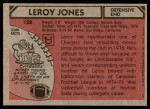 1980 Topps #128  Leroy Jones  Back Thumbnail