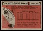 1980 Topps #91  Randy Grossman  Back Thumbnail
